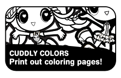 CUDDLY COLORS Print Out Coloring Pages