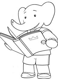 Reading Book Coloring Page AZ Pages