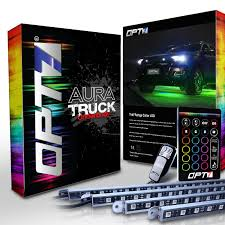 OPT7 Aura Truck/SUV LED Underglow Lighting Kit W/Remote - 4 Aluminum ... 10watt Daytime Running Lights Xkglow 3 Mode Ultra Bright 14pcs Led Led Brake Stop Light Flasher Strobe Controller 12v24v Atv 4 Amber High Power Custer Products Led Auto Down Lights Rgb Flash Under Glow Lamp 7 Colors Pattern Car Ediors 6 Hid Bulbs 120w Hideaway Emergency Hazard Warning Ford To Offer Factoryinstalled On F150 2008 Leds All Around Youtube Trucklite 92844 Black Flange Mount Remote White Can Civilians Use In Private Vehicles Installing Wolo Hideaway Kit 12v Auto Mfg Corp Vehicle Warning Lights Power Supplies Strobe