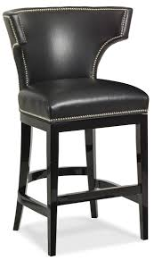 Stool : Magnificent Black Leather Bar Stools Images Inspirations ... Fniture Brown Varnished Mahogany Bar Stool Which Furnished With Bar Black Top Grain Leather Upholstered Magnificent Stools Images Ipirations Calvin Art Deco Barstool Kathy Kuo Home View Archives Darafeev Moes Collection Pk6103 Freeman Counter In Light Klein Wback Plantation Unique Rustic Photos Ideas Jeanne Retro Utility High Chair Sh760 Stellar Works Designed By Nerihu
