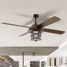 Wayfair Bathroom Ceiling Lights by Outdoor Ceiling Fan With Light Fans You Ll Love Wayfair 8 Shop At