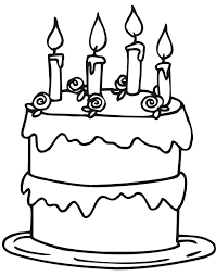 Good Birthday Cake Coloring Pages Printable 31 On Free Colouring With