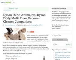 Dyson Dc65 Multi Floor Owners Manual by Dyson Dc50 Animal Vs Dyson Dc65 Multi Floor Vacuum