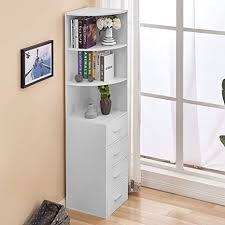 huisen badezimmer toilettenschrank eckschrank tallboy mit 4 schubladen für flur holz organizer aufbewahrung küchenschrank sideboard