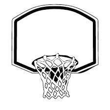 Basketball Ring Clipart Black And White ClipartXtras