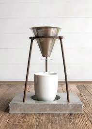 Coffee Pour Over Stand Wood
