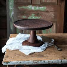 Wooden Cake Stand Best Wood Stands Ideas On Rustic Wedding Walnut Turned Platter By Nz
