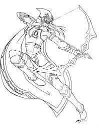 Shes A Solid Champion And She Works With My Play Style Very Well League Of Legends Ashe Lineart