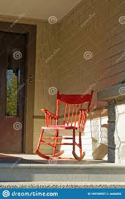 Empty Red Rocking Chair Stock Image. Image Of Single - 145150927 Redwood Outdoor Rocker Handcrafted Wooden Prairie Leisure Garden Chair Patio Fniture For The Home Winston Vintage Wicker Blue Cushions Planters Rocking Chairs Explore Photos Of Old Fashioned Showing 12 10 Best Rocking Chairs Ipdent Buy Look Used For Sale Chairish Art Epicenters Austin Darrow Set Two