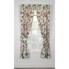 Jacobean Floral Design Curtains by Ellis Curtain Brissac 54 Inch Long Jacobean Floral Print Tailored