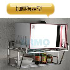Seoul foam wall 304 stainless steel kitchen shelf microwave oven