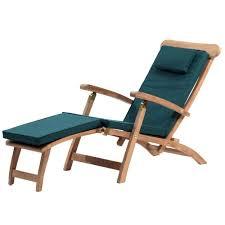 teak steamer chair with cushion internet gardener