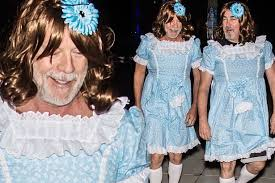 Famous Halloween Characters List by Bald Bruce Willis Transforms Into The Creepy Grady Twins From The