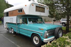 1968 Ford Pickup Truck With A Classic Chinook Camper Shell Mounted ...