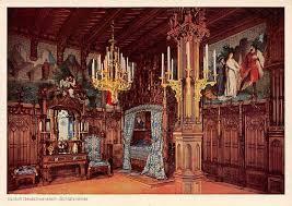 castle interior schloss neuschwanstein schlafzimmer