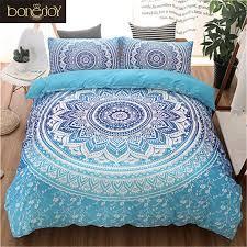 blau schwarz lila farbe bettwäsche kit für erwachsene schlafzimmer voller königin könig größe bett set böhmischen bett abdeckungen boho duvet