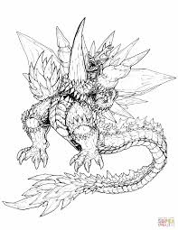 Click The Ultimate Space Godzilla Coloring Pages To View Printable Version Or Color It Online Compatible With IPad And Android Tablets