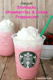 Copycat Starbucks Strawberries And Creme Frappuccino