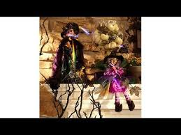 Avon Fiber Optic Halloween Decorations by Halloween Witch Decorations Fiber Optic Lights Youtube
