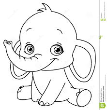 Cute Elephant Coloring Pages Ba To Download And Print For Free Book