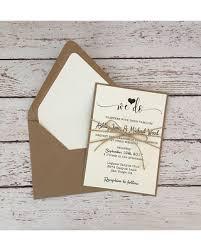 Rustic Wedding Invitation Simple Twine Kraft