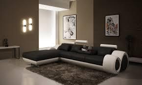 canap noir et blanc deco in canape d angle avec meridienne noir et blanc oslo