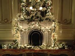 White Flowers Dress The Fireplace Parlor Was Decorated By Harmons Bartons Of