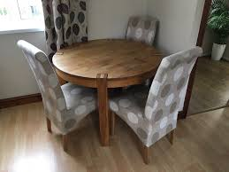 Solid Wood Round Dining Table With 4 Chairs | In Tenby, Pembrokeshire ... Amazoncom Coavas 5pcs Ding Table Set Kitchen Rectangle Charthouse Round And 4 Side Chairs Value City Senarai Harga Like Bug 100 75 Zinnias Fniture Of America Frescina Walmartcom Extending Cream Glass High Gloss Kincaid Cascade With Coaster Vance Contemporary 5piece Top Chair Alexandria Crown Mark 2150t Conns Mainstays Metal Solid Wood Round Ding Table Chairs In Tenby Pembrokeshire Phoebe Set Marble Priced To Sell