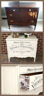 French Graphic Painted Dresser Furniture MakeoverFurniture IdeasRefinish
