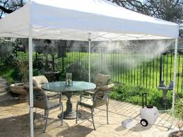 Portable Patio Misting Fans by 12v Rechargeable Portable Misting Tent