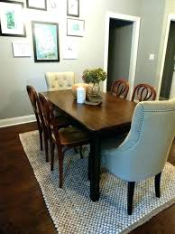 Round Dining Table Rug Area Under Room To