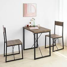 sobuy fst67x2 2 er set esszimmerstuhl mit rücken lehne küchenstuhl holzstuhl balkonstuhl industrial