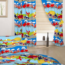 Baby Boy Nursery Curtains Uk by Children U0027s Bedroom Curtains Transport Emergency Vehicles Boys 66