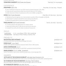 Javascript Resume Builder Resume