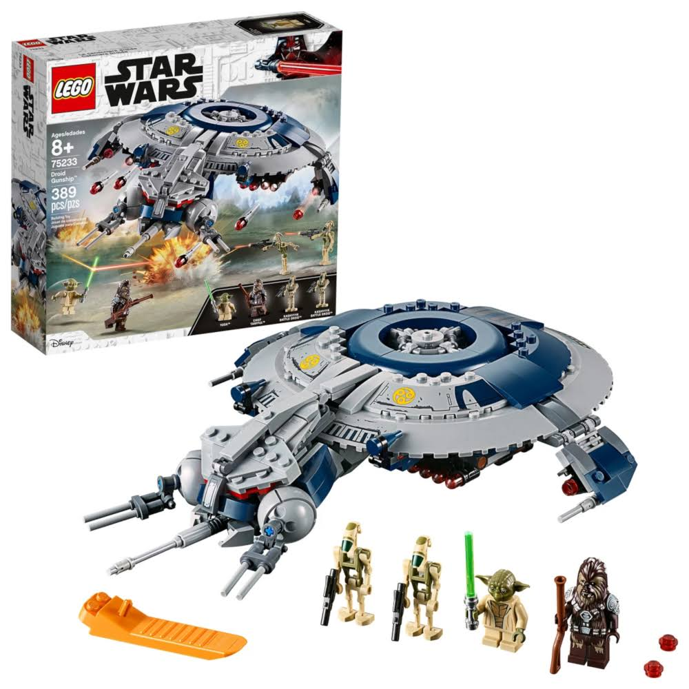 Star Wars Lego Droid Gunship Yoda Building Toy - 389pcs