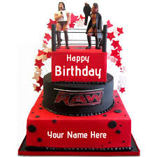 Wwe Raw Cake Decorations by Modest Decoration Wwe Birthday Cakes Shining Inspiration Top Wwe