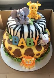 Safari Baby Shower Cake Baby Boy Shower In 2018 Baby Shower