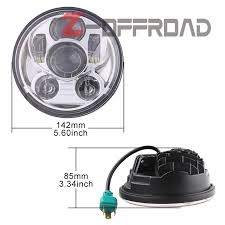 5 75 led headlight bulb replacement lighting 5 75inch motorcycle