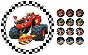 Blaze And The Monster Machines Edible Cake & Cupcake Toppers ... Monster Truck Cupcake Toppers Wrappers Etsy Blaze And The Machines Edible Image Cake Topper Amazoncom Monster Toppers Party Krown 24 Jam Rings Cupcake Toppers Cake Birthday Party Favors Truck Mudslinger Boys Birthday Party Cupcake Wrappers And Easy Cakes Ideas Classic Style Decoration Little Birthday Personalised Icing Gravedigger Byrdie Girl Custom