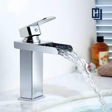 moderner stil einhebel wasserfall wasserhahn bad verchromt badarmaturen wasserfall homelody