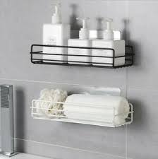 details zu neu wandregal küche bad ablage badregal ohne bohren halter dusch aufbewahrung
