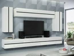 details zu wohnzimmer set wossa 01 wohnwand anbauwand modern hängend neu m24