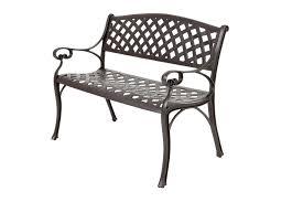 steel outdoor bench