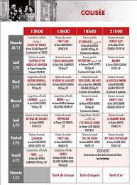 jcc 2014 programme détaillé de la projection des dans la