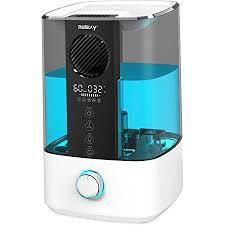 nulaxy top fan luftbefeuchter 4 5l raumluftbefeuchter kühler nebel ultraschall humidifier mit reinigungsalarm timer für schlafzimmer bis 20 70m