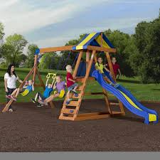Wayfair Play Kitchen Sets by Amazon Com Backyard Discovery Dayton All Cedar Wood Playset Swing