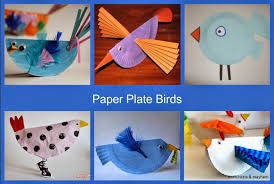 Bird Paper Plate Craft Birds Munchkins And Mayhem