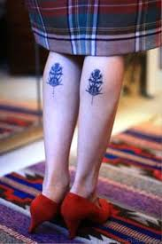 Small Alpine Thistle Tattoos On Both Legs