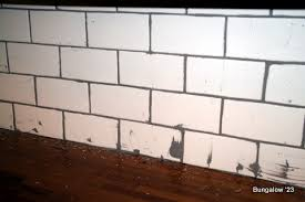 subway tile backsplash installed
