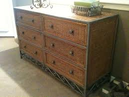 pier 1 wicker metal 6 drawer dresser home wicker